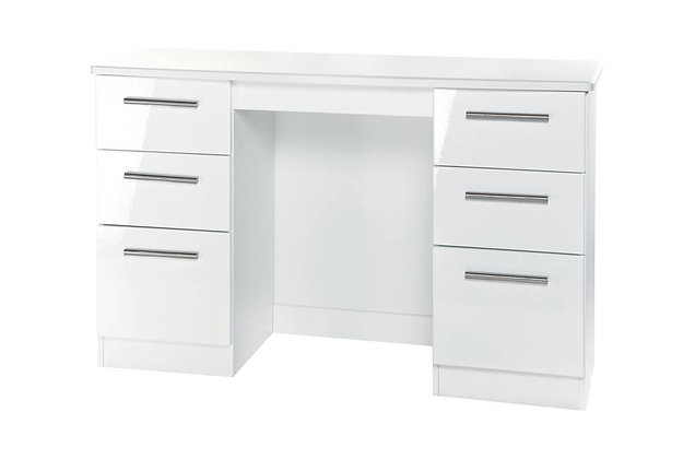 Reflections 6 Drawer Kneehole Dressing Table