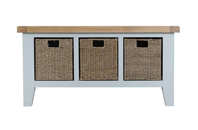 Country Large Hall Bench (Ferndown Grey)