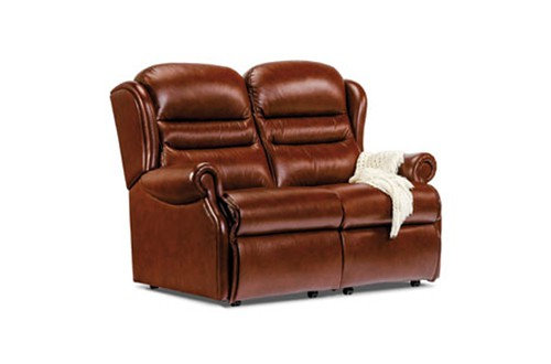 Vienna Leather Small 2 Seater Sofa