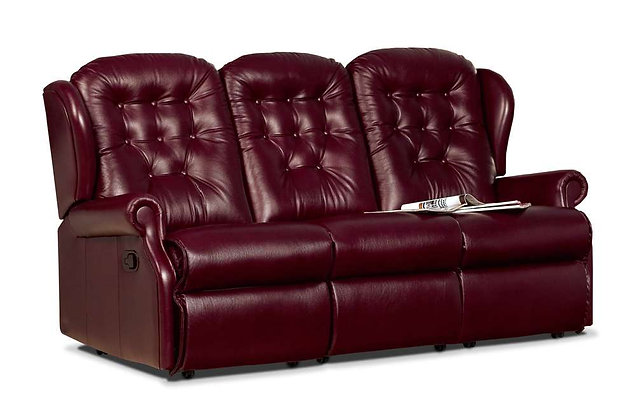 Lambeth Leather Small 3 Seater Recliner Sofa