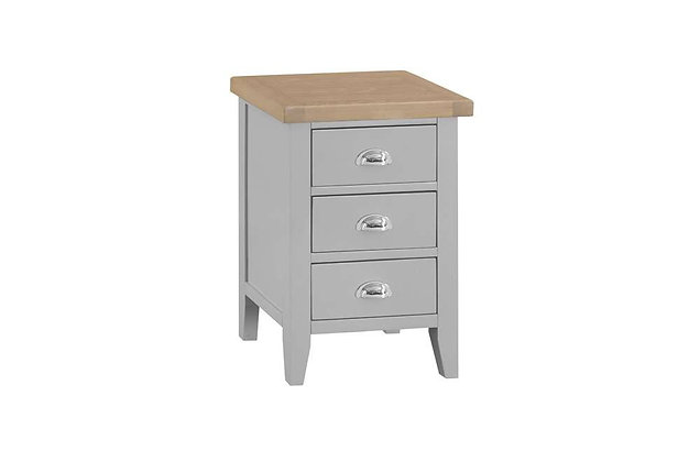 Country 3 Drawer Bedside (Ferndown Grey)