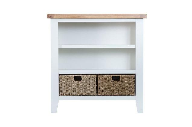 Country Small Wide Bookcase (Wimborne White)