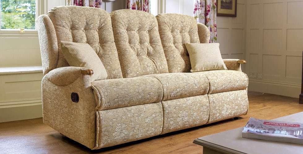 Lambeth Knuckle 3Seater Recliner Sofa