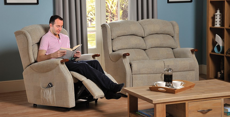 Andorra 2 Seater Sofa with Lift & Rise Recliner Chair