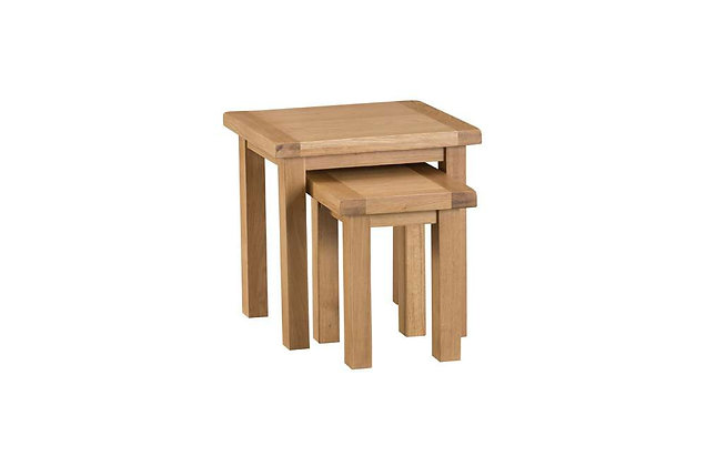 Naples Rustic Oak Nest of 2 Tables