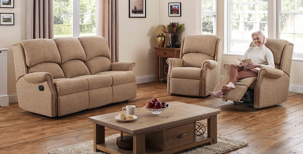 Brighton 3 Seater Recliner Sofa and Armchair with Lift & Rise Recliner Chair