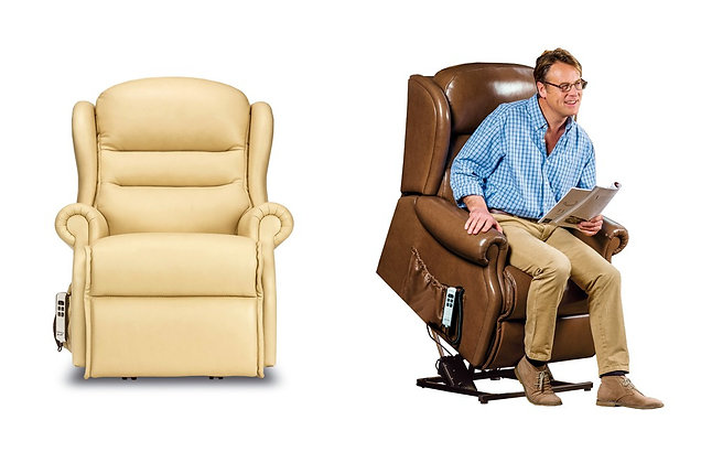 Vienna Leather Petite Lift & Rise Care Recliner