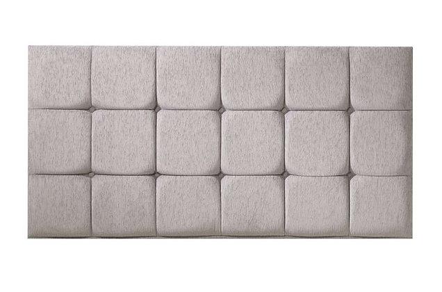 Cube Fabric Upholstered Headboard