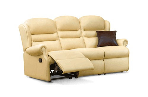 Vienna Leather Small 3 Seater Recliner Sofa