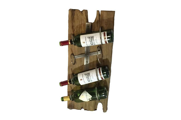 Teak Wine Rack Mount - 4 Bottles