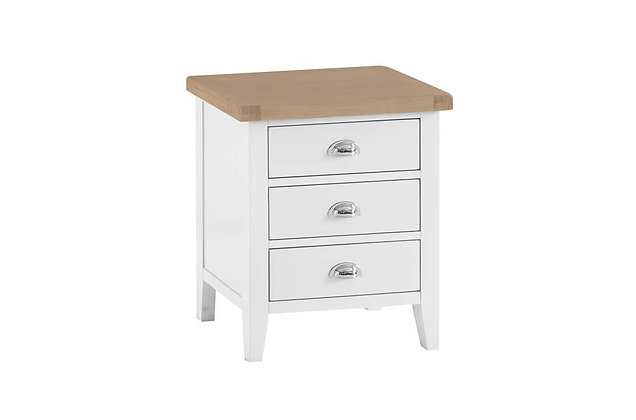 Country Wide 3 Drawer Bedside (Wimborne White)