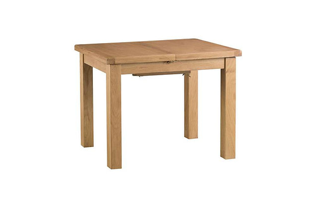 Naples Rustic Oak 1m Butterfly Extending Dining Table