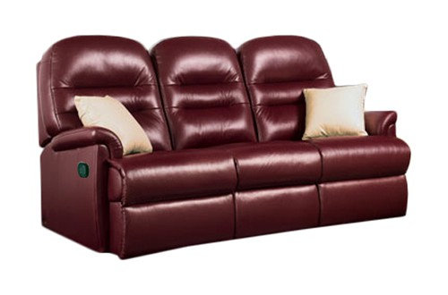 Seaton Leather Small 3 Seater Recliner Sofa