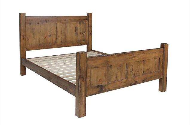 Surrey Rustic Pine Wooden 150cm King Size Bedstead