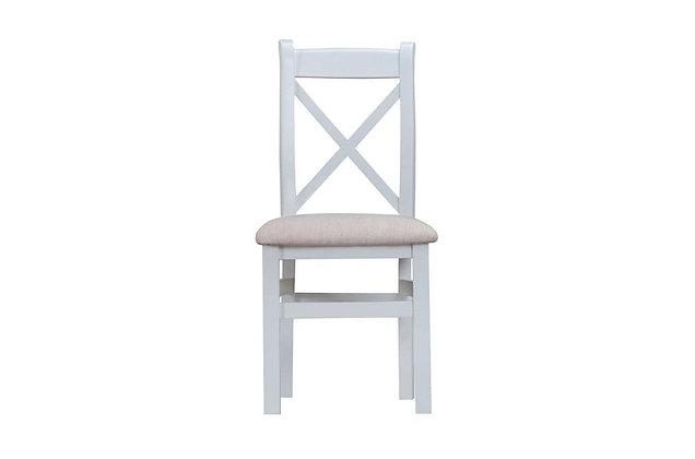 Country Cross Back Chair Fabric Seat (Ferndown Grey)