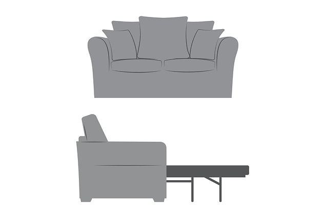 Florence 2 Seater Pillow Back Deluxe Sofa Bed