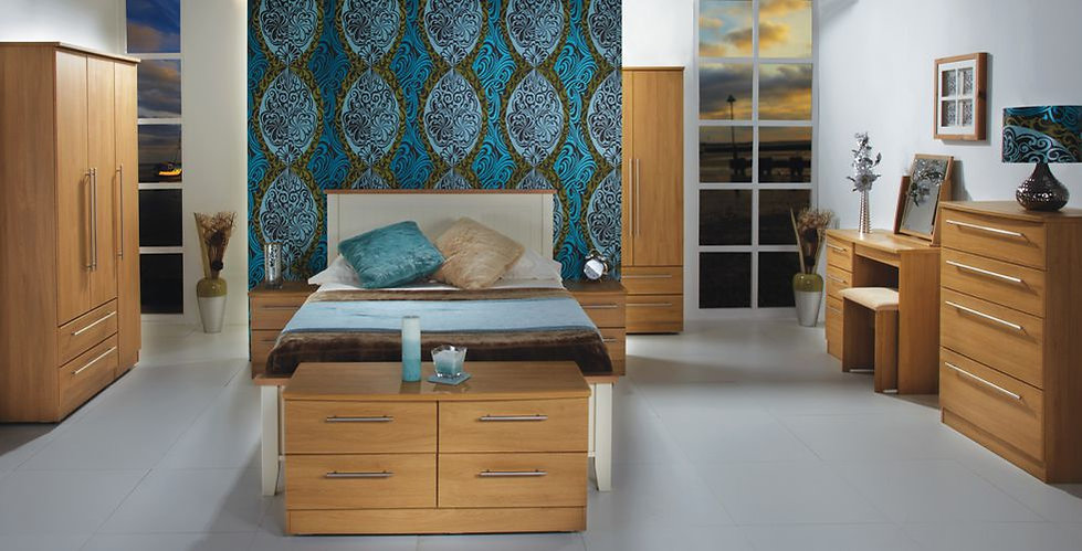 Wessex Bedroom Furniture - Wardrobes, Chest of Drawers, Bedside, Dressing Table, Mirror, Stool & Blanket Box