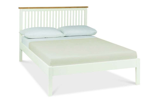 Atlanta Two Tone 150cm King Size Low Foot End Bedstead