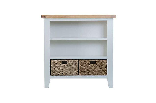 Country Small Wide Bookcase (Ferndown Grey)