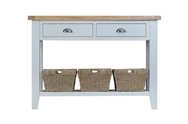 Country Large Console Table (Ferndown Grey)