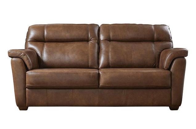Burlington Leather 3 Seater Sofa