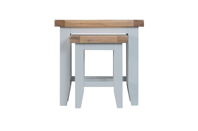 Country Nest of 2 Tables (Ferndown Grey)