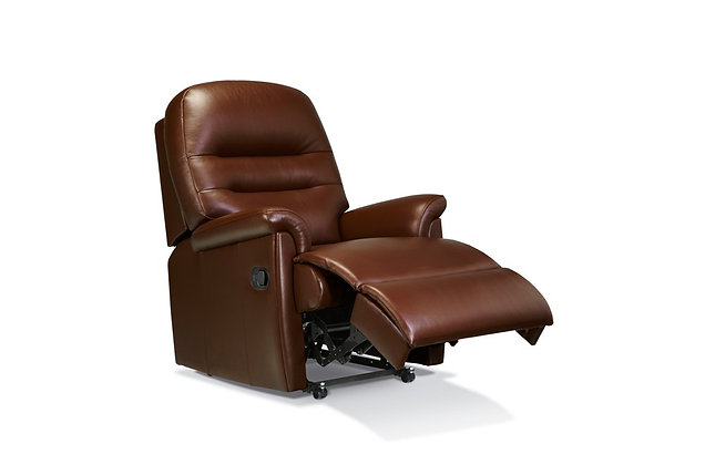 Seaton Leather Small Recliner Chair