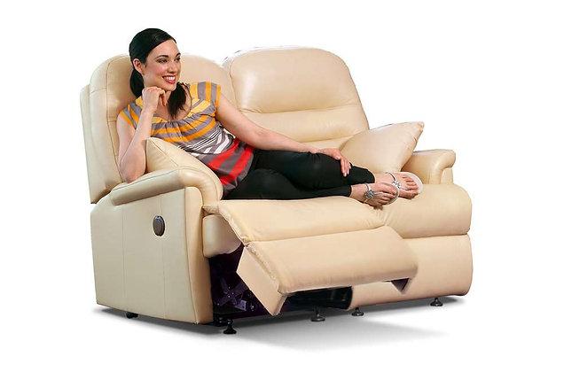 Seaton Leather Petite 2 Seater Recliner Sofa