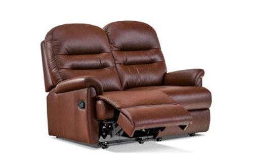 Seaton Leather Small 2 Seater Recliner Sofa