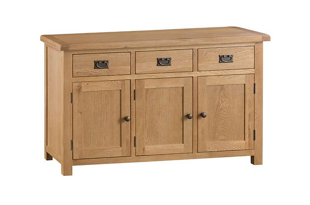 Naples Rustic Oak 3 Door Sideboard