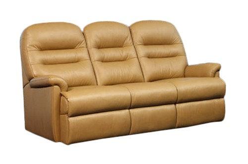Seaton Leather Small 3 Seater Sofa
