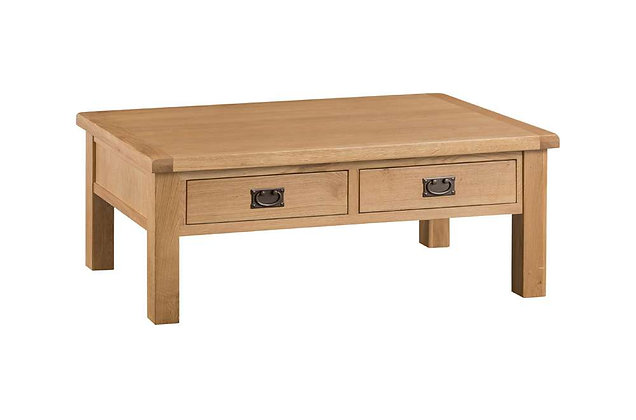 Naples Rustic Oak Large Coffee Table