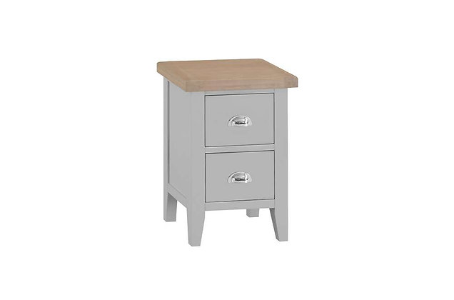 Country 2 Drawer Bedside (Ferndown Grey)