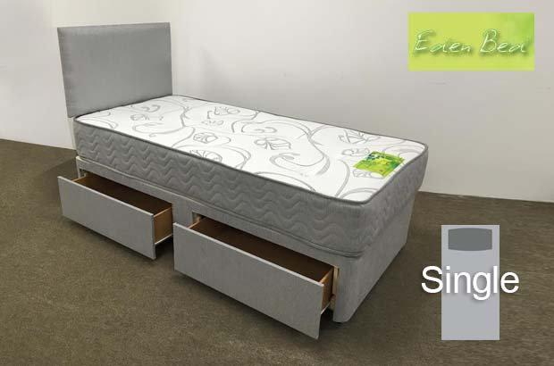 Eden Beds Orchid Single 2 Drawer Divan