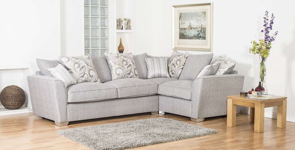 Reimes Pillow Back Corner Sofa Group