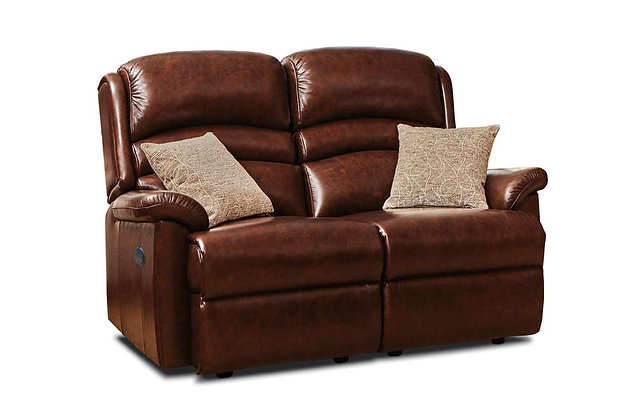 Warminster Leather 2 Seater Recliner Sofa
