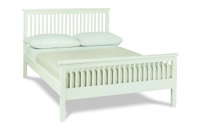 Atlanta White 135cm Double High Foot End Bedstead