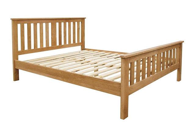 Geneva Oak Wooden Frame 150cm King Size Bedstead