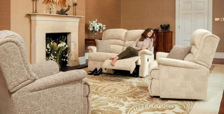Warminster 2 Seater Recliner Sofa, Recliner Chair & Armchair