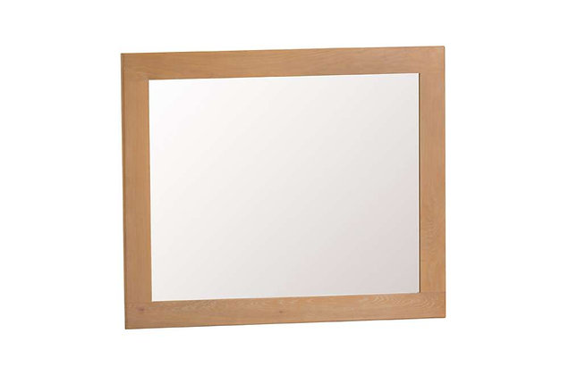 Naples Rustic Oak Large Wall Mirror