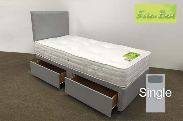 Eden Beds Pocket 1000 Single 2 Drawer Divan
