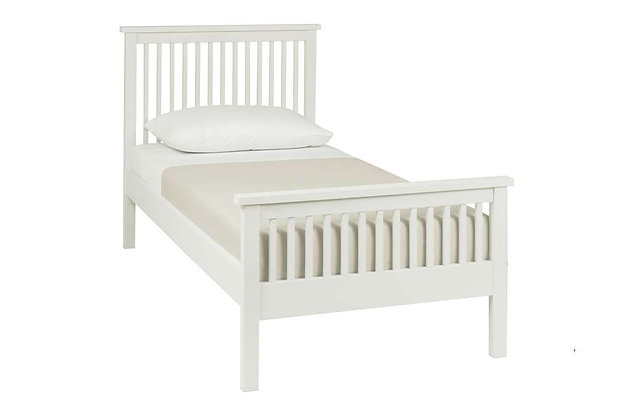 Atlanta White 90cm Single High Foot End Bedstead