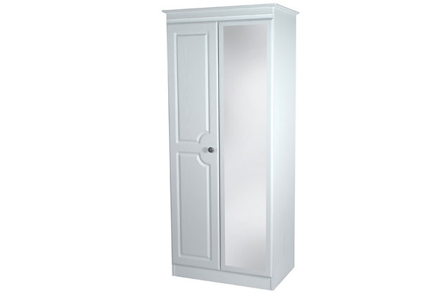 Denton 2ft6in Double Wardrobe with Mirror