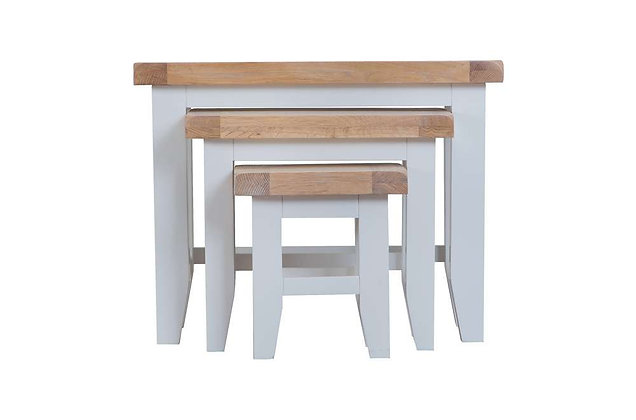 Country Nest of 3 Tables (Ferndown Grey)