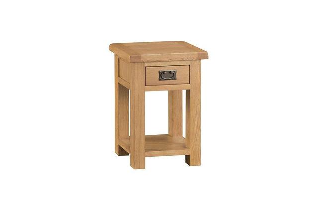 Naples Rustic Oak Side Table