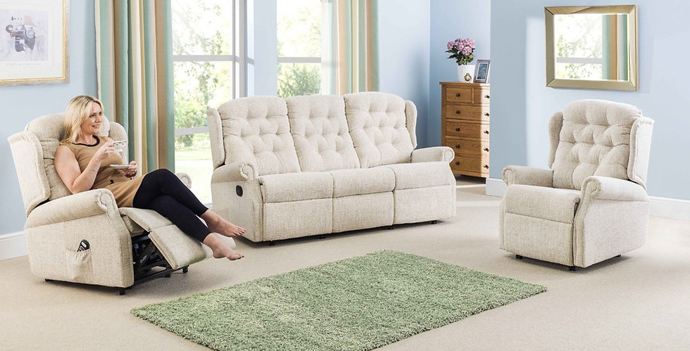 Newbury 3 Seater Recliner Sofa and Armchairwith Lift & Rise Recliner Chair