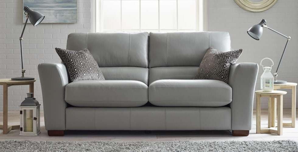 Saunton Leather 3 Seater Leather Upholstered Sofa