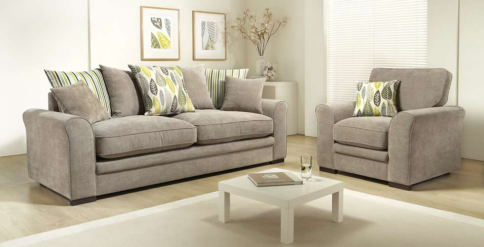 Florence 4 Seater Pillow Back Sofa & Armchair