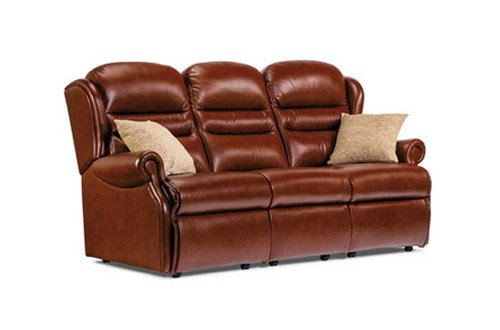 Vienna Leather Small 3 Seater Sofa