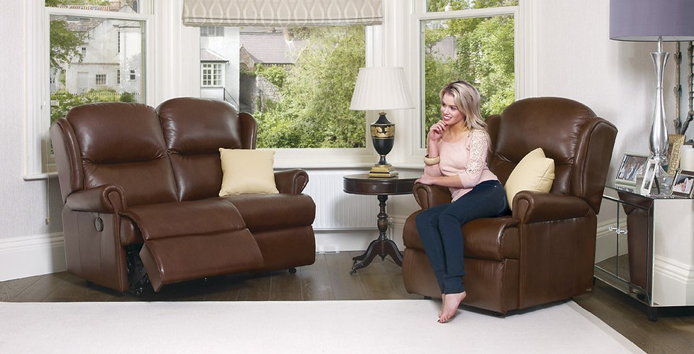 Monty Leather 2 Seater Recliner Sofa and Armchair | Richard Eade Furniture | Hampshire, Surrey